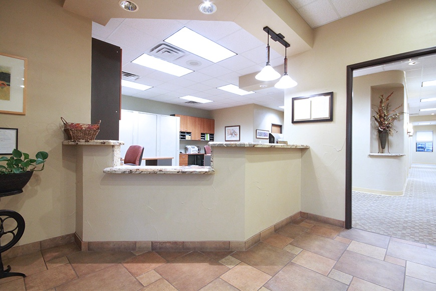 Reception area of Harris Parkway Dental Care