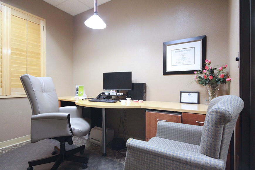 Consultation room of Harris Parkway Dental Care